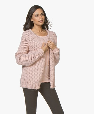 LEÏ 1984 Mira Chunky Knit Open Cardigan - Rose
