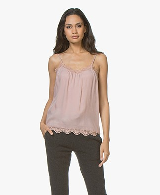 MKT Studio Handora Cupro Top with Lace - Nude