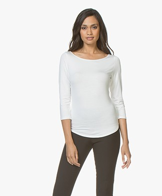 no man's land Cropped Sleeve T-shirt - Ivory