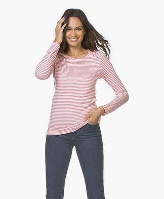 Petit Bateau Wool Blend Striped Long Sleeve - Cheeck/Marshmallow