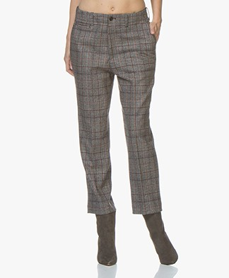 Closed Bertha Wool Checkered Pants - Grey/Brown