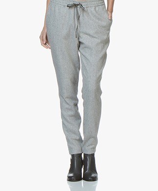 Josephine & Co Jenice Sporty Wool Blend Trousers - Grey