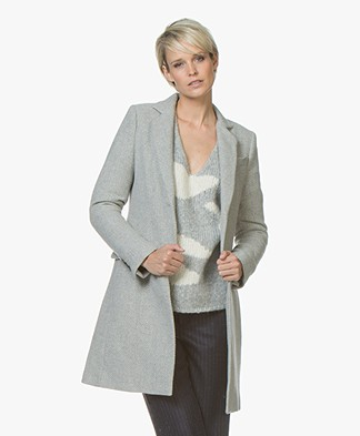 indi & cold Long Blazer Coat in Wool Blend - Vigore