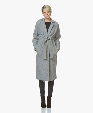 no man's land Wool Coat - Glacier