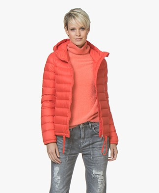 BOSS Ofave Quilted Down Jacket - Red