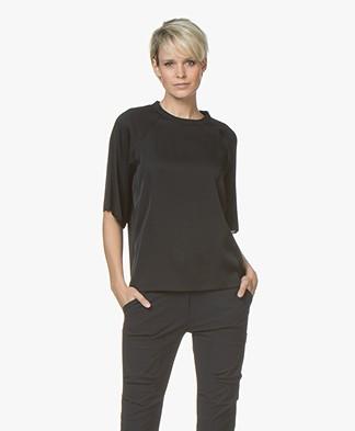 Filippa K Silk Blouse Top - Black
