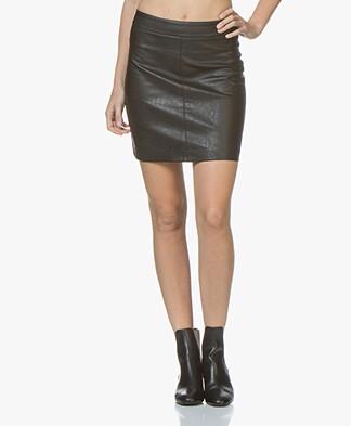 indi & cold Faux Leather Mini Skirt - Black