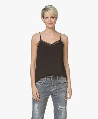 indi & cold Lace Camisole - Black