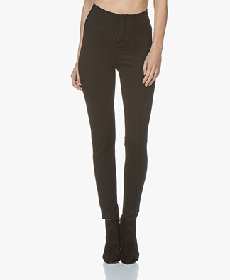 indi & cold Ponte Jersey Slim-fit Pants - Black