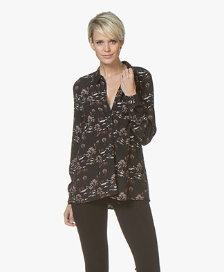 indi & cold Viscose Print Blouse - Black