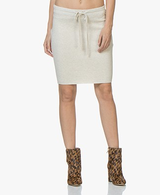 Josephine & Co Jotte Fine Knitted Pencil Skirt - Stone