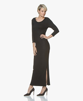 LEÏ 1984 Tamara Bis Rib Jersey Maxi Dress - Black