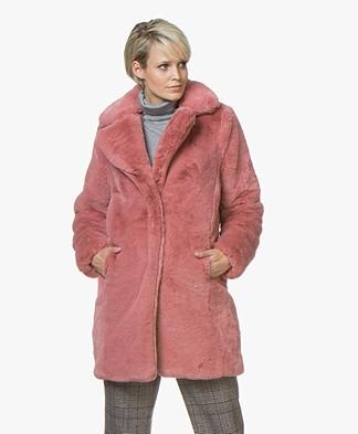 MKT Studio Marili Mid-length Teddy Coat - Pink