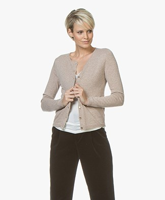 Resort Finest Lucca Cashmere Basic Vest - Taupe
