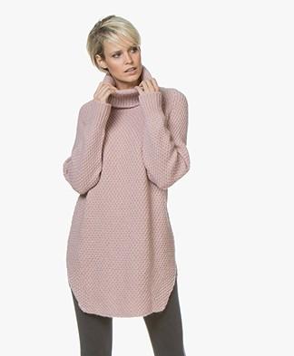 Sibin/Linnebjerg Dorris Moss Knit Turtleneck Sweater - Rose