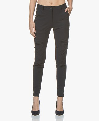Woman By Earn Errol Travel Jersey Pants - Navy