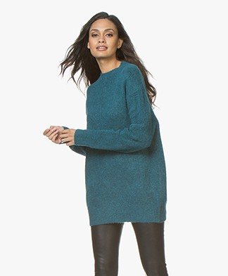 Closed Womens Wool Blend Oversized Sweater - Mediterranea