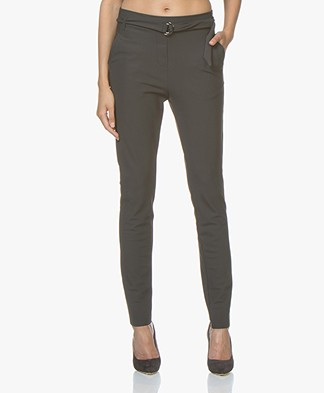 JapanTKY Sotan Bonded Travel Jersey Pants - Anthracite