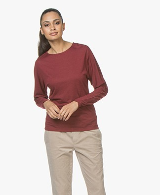 BY-BAR Katy Viscose Blend Long Sleeve with Lurex - Grape Red