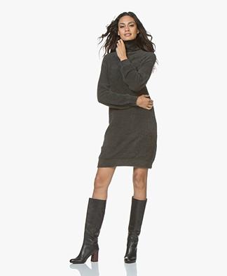 Plein Publique Le Ciel Super Soft Turtleneck Dress - Warm Grey