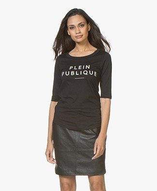 Plein Publique Le Logo T-shirt - Black