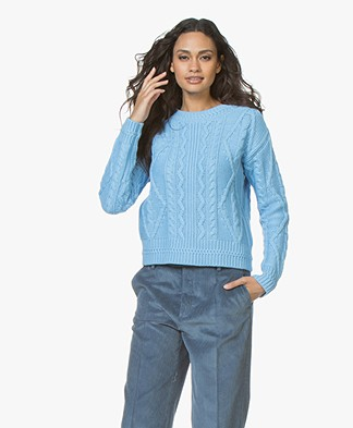Josephine & Co Joris Cable Knit Pullover - Blue