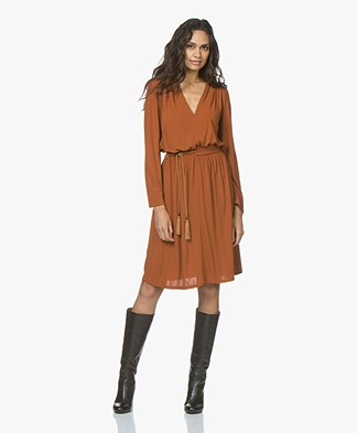 Vanessa Bruno Jadeite Crepe Jersey Dress - Brique