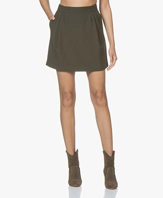 Filippa K Short Wool Skirt - Dark Olive