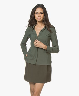 Josephine & Co Rolf Travel Jersey Blouse - Army
