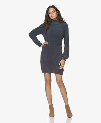 Plein Publique Le Ciel Super Soft Turtleneck Dress - Dark Blue