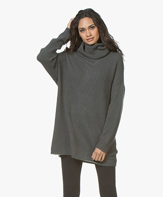 Repeat Cashmeremix Oversized Coltrui - Olive