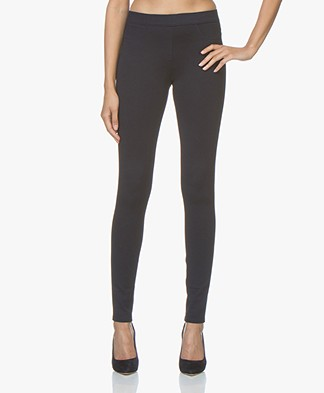 Repeat Viscose Blend Jersey Slim-fit Broek - Navy
