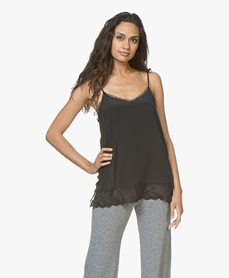 Repeat Silk and Lace Camisole - Black