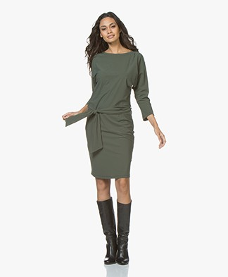 Woman By Earn Margriet Travel Jersey Dress - Green