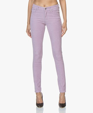 Zadig & Voltaire Eva Slim-fit Broek in Rib - Parme