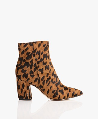 Sam Edelman Hilty Brahma Hair Ankle Boots - Luggage