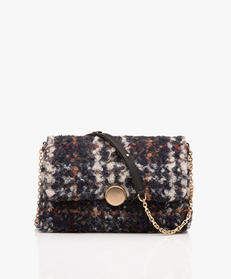 Vanessa Bruno Moon Souple Shoulder Bag - Marine/Grey