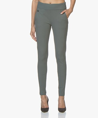 Woman By Earn Amber Travel Jersey Pants - Greyish Green