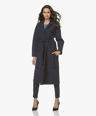 no man's land Wool Coat - Dark Sapphire