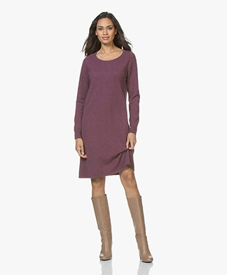 Repeat Fine Knit Dress from Pure Cashmere - Dark Purple