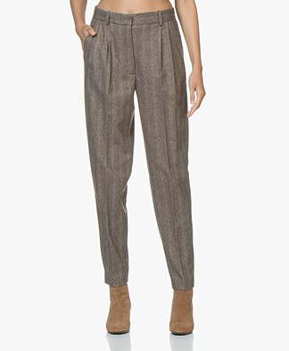 Vanessa Bruno Jordi Herringbone Pants - Brown