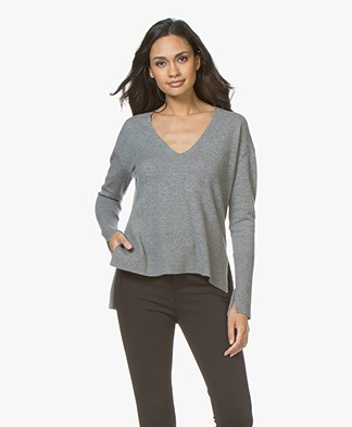 By Malene Birger Accina V-neck Sweater - Grey
