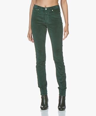 Closed Lizzy Velvet Pants - Evergreen