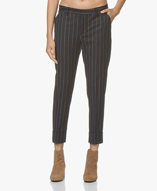 Closed Stewart Striped Wool Blend Pants - Dark Night