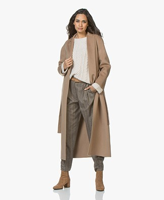 Filippa K Alexa Cashmere Blend Woolen Coat - Camel