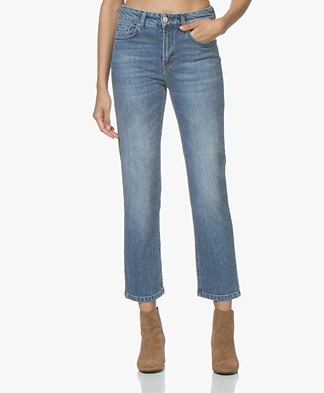 Filippa K Stella Cropped Mid Blue Denim - Vintage Summer Denim