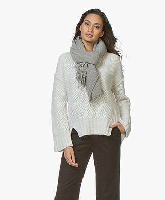 Filippa K Wool Cashmere Scarf - Dark Oyster Melange