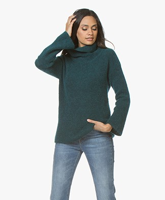 no man's land Mohair Blend Sweater - Emerald
