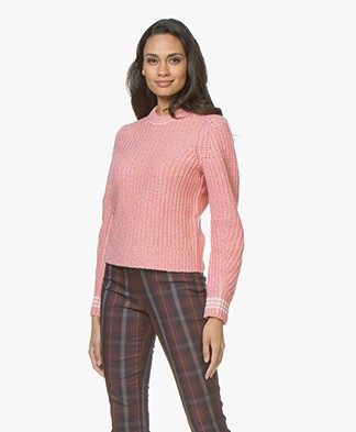 Rag & Bone Cheryl Short Merino Sweater - Pink Melange
