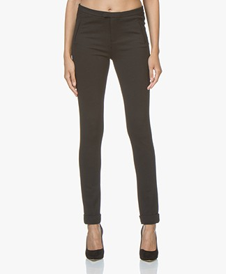 Repeat Viscose Blend Jersey Pants - Black